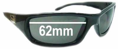 SFx Replacement Sunglass Lenses fits Dragon Chrome - 62mm Wide ()