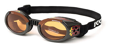 SUNGLASSES FOR DOGS by Doggles - RACING FLAMES - EXTRA SMALL