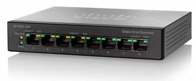 Cisco Systems Sf100d 08P Na 8 Port 10 100 Desktop Switch With Poe