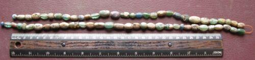 Authentic Ancient Lake Ladoga VIKING Artifact > 61 Glass Necklace Beads  RJ 5