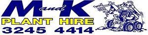 M & K PLANT HIRE-Excavator, Bobcat, Truck, Drott & Combo Services Brisbane Region Preview