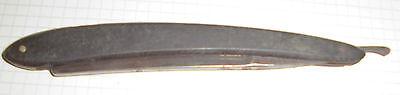 dachbodenfund rasiermesser alt schwarz 2/0 42 stempel unleserl. top vintage deko