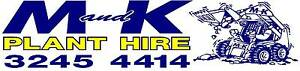 M and K PLANT HIRE Brisbane City Brisbane North West Preview