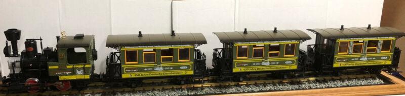 LGB 20533 - Green Schweiger Set - Stainz locomotive & 3 passenger cars w/ box