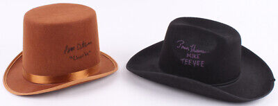(2) WILLY WONKA AUTOGRAPHED HATS - Peter Ostrum - Willy Wonka Hat