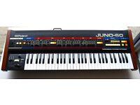 Roland JUNO 60 with Minerva MIDI Kit // EXCELLENT CONDITION //