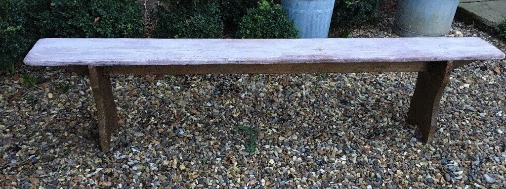 Rustic French bench seat