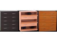 New Castle 5 Drawer Shoe Storage - Oak
