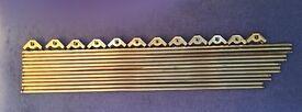 12 brass stair rods