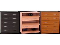 New Castle 5 Drawer Shoe Storage - Oak