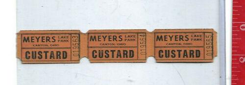 vintage lot tickets Custard Meyers Lake Park Canton Ohio