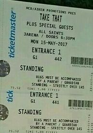 2 Take That Standing Tickets Monday 15/5/17