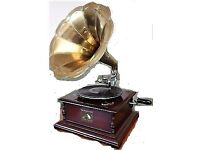HMV 1920's 78s type Gramophone record player wind up & horn