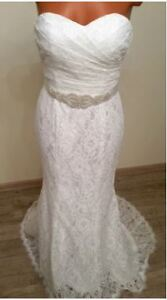 brand new never worn all lace mermaid size 16 wedding dress