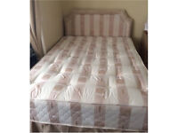 Used Double divan bed with mattress and matching headboard
