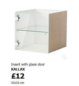 Brand new unopened IKEA Kallax glass shelf insert x 2