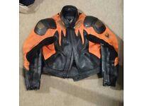Frank Thomas Leather motorcycle jacket size 44 ( medium- large).