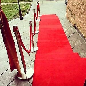 Red Carpet with stanchions and rope for sale