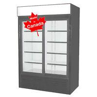 DEMO - 2 glass door commercial cooler WITH WARRANTY