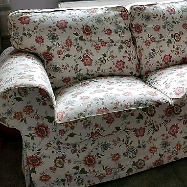 Sensational White Floral 3 Seater Sofa Ikea Ektorp In South Shields Tyne And Wear Gumtree Gamerscity Chair Design For Home Gamerscityorg
