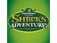Shrek Adventure London - x2 Tickets Any Date