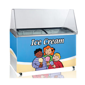 12 Flavor Ice Cream Dipping Cabinet