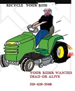 riding mower      ( do you want 50 to 150+)