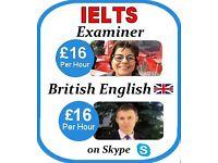 IELTS Examiners + British Skype English Tutors- FREE Trial £16 per hour, Online Teachers