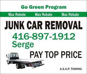 Scrap cars WANTED in GTA. 416 897 1912 Serge. We pay TOP cash.