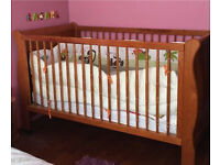 Beautiful solid timber cot for baby or toddler