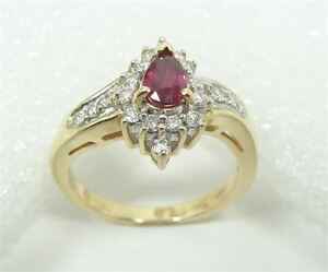 14K Gold Ring-Diamonds & Ruby, New with Certificate of Appraisal