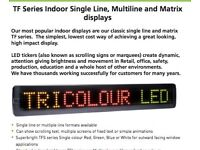 High Quality INTERIOR 3 Colour LED SIGN For Shop, Sports, display TFI-7x40-50RG 60cm RRP £250