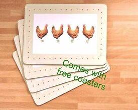 Placemats--Cockerel Design