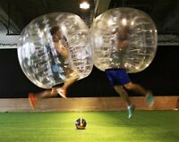 Bubble soccer parties for youth, bachelor(ettes), or birthdays!