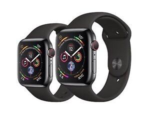 Apple Watch series 4 44mm black stainless steel sport band