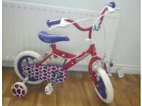 Little sweetie bicycle brand new suit around 3 to 4years old £25.