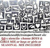Glitter Tattoo Stencils Girls