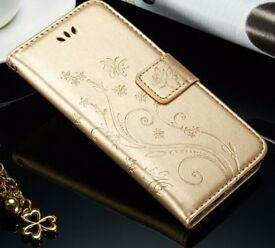 Luxury Flip Leather Wallet for a Mobile Phone with Magnetic Closing.