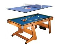 BCE 6ft Vertical Folding Pool Table (inc. Table Tennis top)