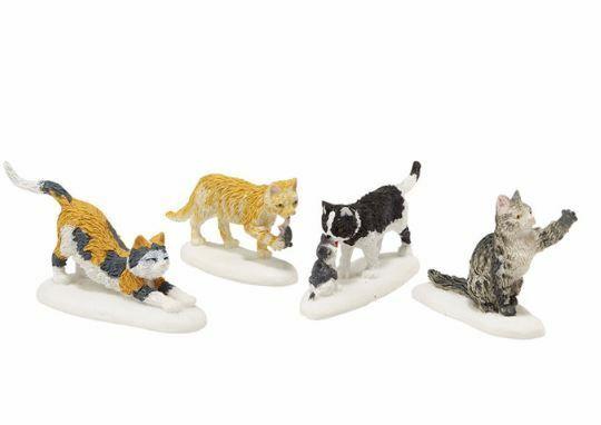 Department 56 Village Stray Cat Strut Accessory Figurine Set 4020252 New