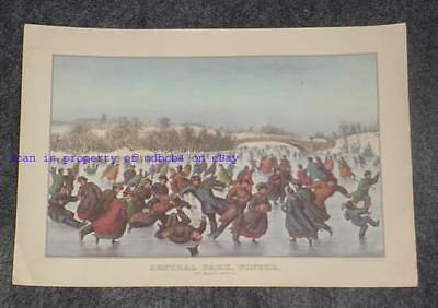 Skating in Central Park by Johann Culverhouse New York Winter 8x10 Print 1195