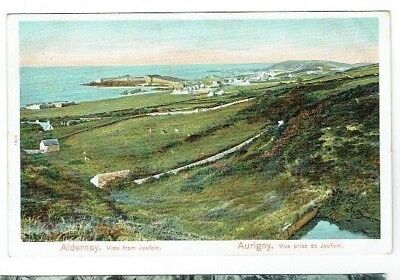 POSTCARD VIEW FROM JOUFOIN ALDERNEY CHANNEL ISLANDS PEACOCK SERIES VINTAGE C1905