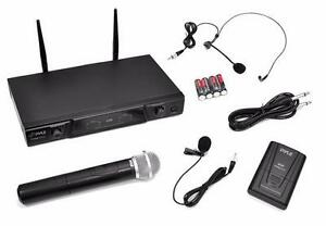 PylePro PDWM2115 VHF Wireless Combo Microphone Receiver System with body pack