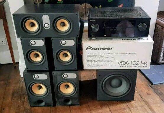 B&W (Bower & Wilkins) 600 series speakers  Amazing surround with PIONEER  RECIEVER VSX 1021-K 7 1   in Brockley, London   Gumtree