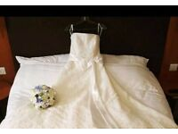 Size 12 white rose wedding gown
