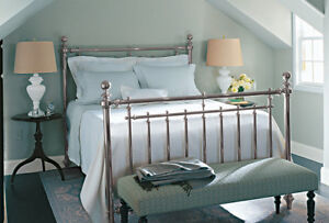 Martha Stewart Irvington Queen Size Nickel Bed