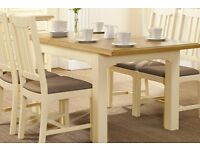 Rochelle style extending dining room table and chairs