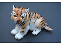 2 Porcelain Vintage Russian Tiger USSR