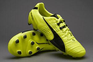 Puma King II FG Safety Yellow/Black Leather BNIB New Mens 11.5