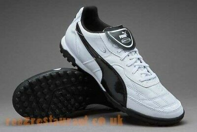 Puma Esito TT Astro Hard Ground Soccer Cleats White Leather UK 10/US 11/EURO 45